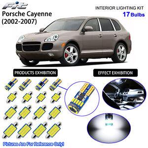 17 Bulbs LED Interior Light Kit Cool White For ( 955) 2003-2006 Porsche Cayenne