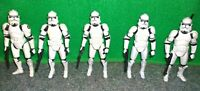 Star Wars ROTS Phase 2 CLONE TROOPER Action Figure Lot - Used