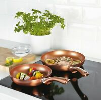 2 PCS Frying Pan Set URBN-CHEF Metal Ceramic Copper Induction Cooking Saucepan
