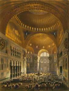 LANDSCAPE AYA SOFYA MOSQUE ISLAM HAGHE ISTANBUL NEW ART PRINT POSTER CC3643