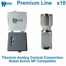 10 x Dental Lab Implant Replica Analog Conical Connection Nobel Active NP