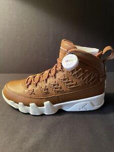 2017 Nike Air Jordan Retro 9 IX Pinnacle Baseball Brown Size 8 VNDS AH6233-903