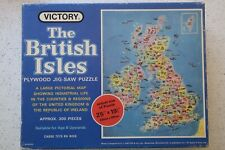 Vintage Victory Plywood Jigsaw Puzzle of Industrial Life in the British Isles