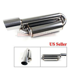 "FOR BMW! 1X USA NA TWIN CANISTER STYLE DEEP TONE SPORT EXHAUST MUFFLER & 4"" TIP"