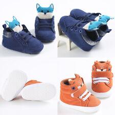 Cartoon Toddler Girls Boys Crib Shoes Newborn Baby Prewalker Soft Sole Sneakers