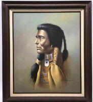 "Z. Garcia MASTERWORK VTG. OIL PAINTING On Canvas Native American Man 30""x26"""