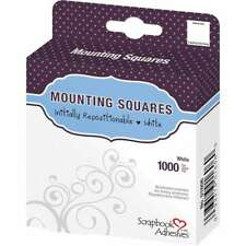 Scrapbook Adhesives Mounting Squares 1000/Pkg Repositionable, Whi 093616016060