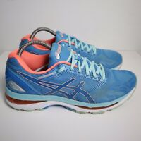 Asics T750N Gel-Nimbus 19 Running Shoes Coral Blue - Womens Size 10 D 069