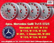 4 cerchi Mercedes W 107 114 115 116 126 201 Gulli Felgen 7x15 TÜV wheels jantes
