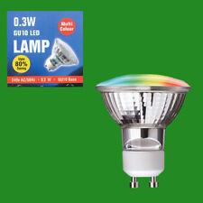 1 X 0.3W Led Couleur Changeante Led Spot GU10 Ampoules RGB Multicolore Eteindre