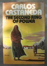 Vintage CARLOS CASTANEDA THE SECOND RING OF POWER Book 1st Print 1977 HC w DJ