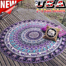 Large Round Beach Pool Home Shower Towel Tapestry Blanket Table Cloth Yoga Mats
