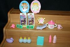 Mixed Lot Dollhouse Nursery Items Bottles Pampers Photos Decoration 16 Pcs