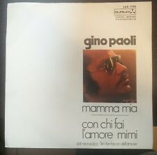 Gino Paoli – Mamma Mia / Con Chi Fai L'Amore Mimi 45 giri 1971 EX/Mint Durium