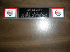 DAN SEVERN (UFC) NAMEPLATE FOR SIGNED TRUNKS DISPLAY/PHOTO/PLAQUE