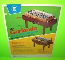 The GARLANDO Foosball Table Soccer FLYER Paper Advertising Game Sheet Original