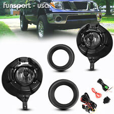 for 05-16 Nissan Frontier Metal Chrome Bumper Clear Fog Lights+Switch+Wiring Kit