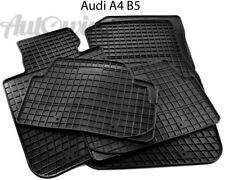 Rubber Black Floor Mats for Audi A4-B5 1995-2001 LHD Left Hand Driver