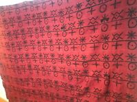 "Vintage Genuine MALI BAMANA Africa BOGOLANFINI MUD CLOTH 100""x 73"" Hand Woven"