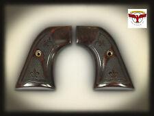 Ruger Super Blackhawk Aged Oak Grips ~ 2x Fleur-de-Lis Checkering