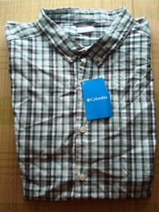 COLUMBIA MENS SHIRT BUTTON DOWN  SHORT SLEEVE XX-LARGE  ~NEW W/TAGS~