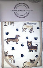Cooksmart Double Oven Gloves - dogs & Paw prints