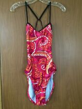 Nike Pink Print Strappy Racerback Swimsuit Women's 36/10