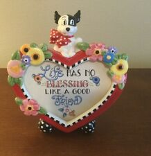 "Mary Engelbreit 2001 Dog Heart Flower Frame 7""x 6.5"""