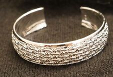 NEW LARGE WOMEN'S STERLING SILVER 925 GREEK  BRACELET BANGLE CUFF ITALIAN DESIGN