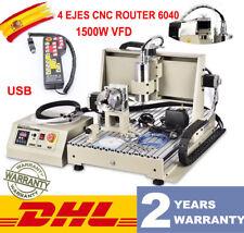 USB 6040 1500W 4Axis CNC Router grabador máquina de fresado ENGRAVER fresadoraRC
