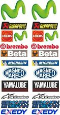 Yamaha racing YZF m1 r1 sticker decal set akrapovic eneos beta adesivi aufkleber