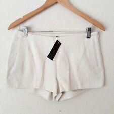 NWT Stile Benetton Woven Shorts Size 6 Women's Cream Ivory Knit