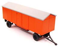 TT Bauwagen Baustellenhänger A 8 Montagebau Bau DDR orange schwarz Treppe Lampe
