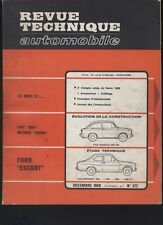 (169A) Revue technique automobile Ford Escort / Fiat 850 Neckard Adria