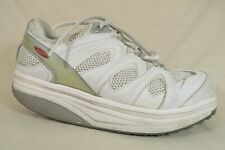 MBT White Leather Toning Walking Rocker Sneakers Athletic Sport Shoes Womens 9