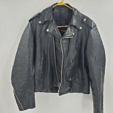 Vintage Leather Rider Eagle Leather Biker Jacket