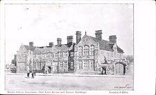 Grantham. King's School by Leayton & Eden. J.Bilson Architect's Drawing.