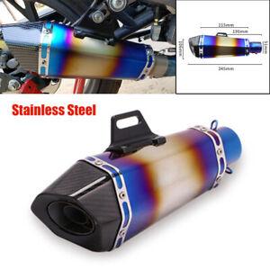 51mm Universal Motorcycle Retrofit Exhaust Tips Muffler Pipe Stainless Steel Kit
