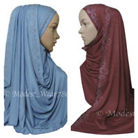 Premium Cotton Jersey Hijab Scarf Islam Muslim Headcover 19 Colors 180X60 cm
