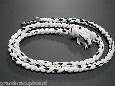 "Black White Grey 78"" Cotton Horse Lead Rope Tack Dog Leash Heavy Chrome SnapClip"