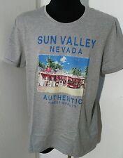 Ragman T-Shirt Kurzarm Rundhals grau  XL 54 Cotton  Vintage Retro mit Print grey