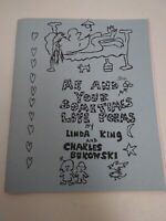Charles Bukowski ME & YOUR SOMETIMES LOVE POEMS signed by Linda King 1999 poems