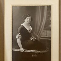 Antique Folding Photograph Cabinet Card Beautiful Young Plus Size Woman Chicago