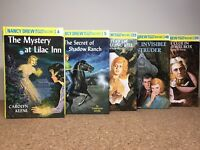 Lot Of 5 Nancy Drew Mystery Stories By Carolyn Keene, Hardcover Books