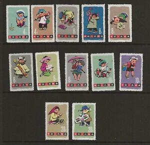 China PRC 1963 Children's Day set, S54 Scott #684-695, Mint NH