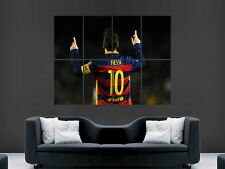 LIONEL MESSI 10 BARCELONA FC FOOTBALL SPAIN MAGE WALL POSTER ART PRINT LARGE