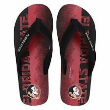 FOCO NCAA Men's Florida State Seminoles Contour Fade Wordmark Thong Sandals