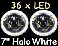 "Halo 7"" White Headlights Ford Mustang 1966 1967 1968 1969 1970 1971 1972 1973"