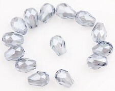 10-100Pcs Teardrop Czech Drop Faceted Glass Crystal Loose Spacer Beads Xmas Gift