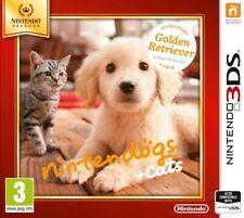 3ds Nintendogs gatos Golden Retiever Selects